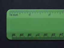 Imperial and metric ruler Stock Images