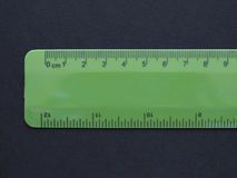 Imperial and metric ruler Royalty Free Stock Image