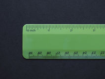 Imperial and metric ruler Royalty Free Stock Photos