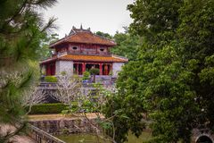 Imperial Minh Mang Tomb in Hue, Vietnam.  stock photos