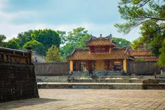Imperial Minh Mang Tomb in Hue, Vietnam.  royalty free stock photography