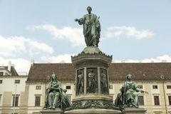 Imperial monument of Franz Josef. Monument of Habsburg monarch Franz Josef in Vienna Royalty Free Stock Photo