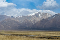 Imperial mountains and clouds of Tibet, Qinghai province of Chin Royalty Free Stock Photo