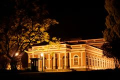 Imperial Museum by night Petropolis Stock Photo