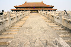 Imperial palace. The buildings of Forbidden City. Forbidden City is the palace of China's Yuan Ming and Qing dynasty Royalty Free Stock Images