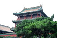 The Imperial Palace. Phoenix tower in the Imperial Palace in Shenyang royalty free stock images