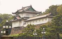 Imperial palace. An ancient castle in Tokyo Japan stock images