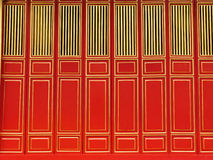 Imperial Palace antique door. Golden and red door in the Imperial Palace. Hue, Vietnam Stock Photos