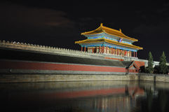 Imperial Palace (Forbidden City) night Stock Images