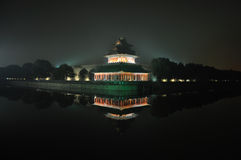 Imperial Palace (Forbidden City) night Stock Image