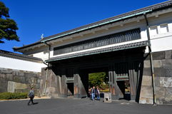 Imperial Palace Gardens Tokyo Japan. An image of the entrance gate to the Imperial Palace Gardens in Tokyo Japan stock images
