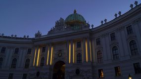 Imperial Palace Hofburg in Vienna stock photos