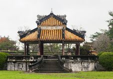 Imperial Palace in Hue, Vietnam. Red archway in Imperial Palace in Hue, Vietnam royalty free stock photography