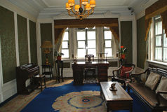 The imperial palace of Manchukuo. Puyi was the last emperor in China. This was his last concubine's living room. Her name was Liyuqin Stock Images