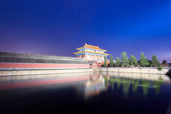 The imperial palace at night Royalty Free Stock Photo