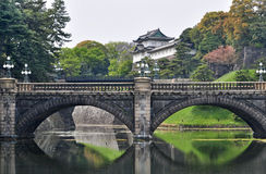 Imperial Palace and Nijubashi bridge, Japan Royalty Free Stock Photo