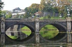 Imperial Palace and Nijubashi bridge, Japan Stock Photos