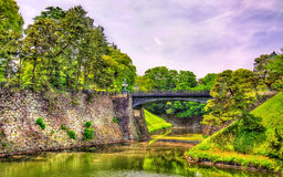 Imperial Palace with Nijubashi Bridge in Tokyo Stock Photography