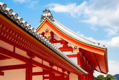 Imperial Palace - Roof details. Classic japanese roof over gates into Imperial Palace, Kyoto, Japan stock photos