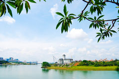 Imperial palace of sultan near Putra Lake Stock Images