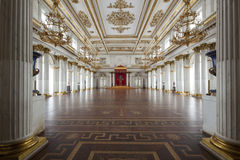 Imperial palace and throne in Saint Petersburg Royalty Free Stock Image