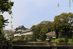 Imperial palace Tokyo. Tokyo imperial palace and blue sky Stock Photo