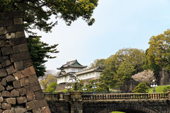 Imperial palace Tokyo. Tokyo imperial palace and blue sky Royalty Free Stock Photography