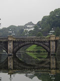 Imperial Palace Tokyo. A bridge spans a river in front of the imperial palace in Tokyo Japan Stock Image
