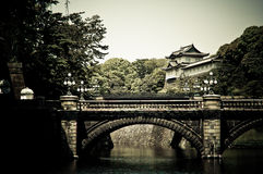 Imperial Palace in Tokyo, Japan. Imperial Palace and bridge in Japan Stock Photo