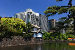 Imperial palace and Tokyo skyline Royalty Free Stock Image