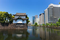 Imperial palace and Tokyo skyline Royalty Free Stock Images