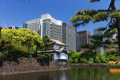 Imperial palace and Tokyo skyline Stock Image