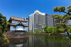 Imperial palace and Tokyo skyline Royalty Free Stock Photos