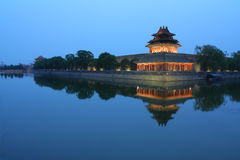 The Imperial Palace watchtower. The Forbidden City was the Chinese imperial palace from the Ming Dynasty to the end of the Qing Dynasty. It was Built in 1406 to Stock Images