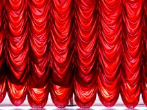 Imperial red curtains Royalty Free Stock Image
