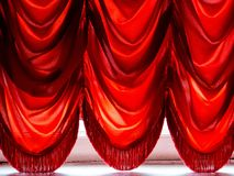 Imperial red curtains Royalty Free Stock Photography