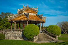 Imperial Royal Palace of Nguyen dynasty in Hue, Vietnam. Unesco. World Heritage Site royalty free stock photography