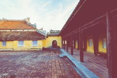 Imperial Royal Palace of Nguyen dynasty in Hue, Vietnam. Unesco. World Heritage Site royalty free stock image