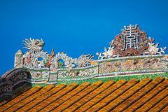 Imperial Royal Palace of Nguyen dynasty in Hue, Vietnam. Unesco. World Heritage Site royalty free stock photo