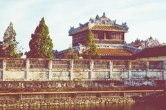 Imperial Royal Palace of Nguyen dynasty in Hue, Vietnam. Unesco. World Heritage Site royalty free stock photos
