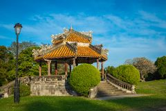 Imperial Royal Palace of Nguyen dynasty in Hue, Vietnam. Unesco. World Heritage Site stock photography