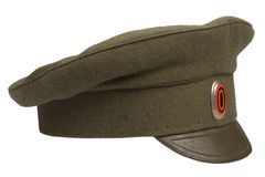 Imperial Russian Army cap Stock Images