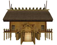 Imperial shrine. 3D rendered imperial shrine on white background isolated Stock Photography