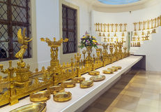 Imperial Silver Collection. In Hofburg Palace in Vienna, Austria stock photography