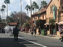 Imperial Storm Troopers at Hollywood Studios, Orlando, FL. Imperial Storm Troopers march down Main St. in Hollywood Studios, Orlando, Florida Royalty Free Stock Images