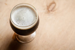 Imperial stout on wood Stock Photo