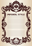 Imperial style frame Royalty Free Stock Images