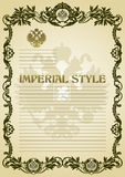 Imperial style frame green Royalty Free Stock Photography