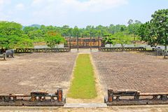 Hue Imperial Tomb of Emperor Thieu Tri, Hue Vietnam UNESCO World Heritage Site. The imperial tomb of Thieu Tri is located very close to the Imperial Tomb of Tu Stock Photography