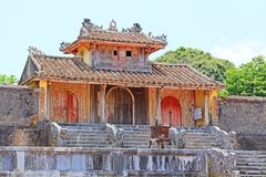 Hue Imperial Tomb of Emperor Thieu Tri, Hue Vietnam UNESCO World Heritage Site. The imperial tomb of Thieu Tri is located very close to the Imperial Tomb of Tu Royalty Free Stock Photo